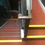 restaurant stairs carpet