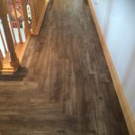 wood effect LVT on stairs